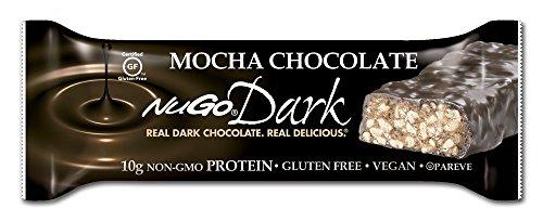 Nugo Dark Chocolate Mocha, Dairy Free, 1.76-Ounce Bars (Pack Of 12)