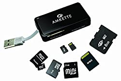 Amkette FDD396M Multi Format Card Reader, Black