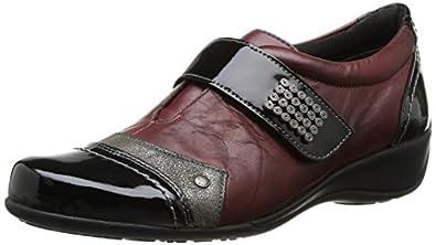 Remonte R9819 35, Chaussures de ville femme - Rouge (Schwarz/Steel/Medoc/Burgund), 42 EU (8 UK) (10 US)