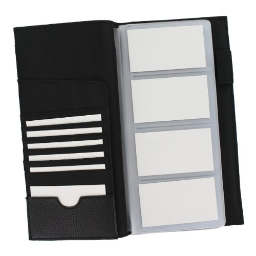 Rolodex Low-Profile Business Card Book, 96-Card, Black (76659) image