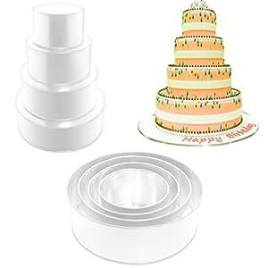 4 tier round wedding cake pan 6 8 10 12