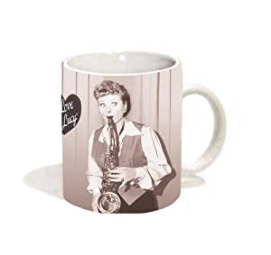 I Love Lucy Saxophone Classic TV Television Comedy Show (Lucille Ball) Ceramic Gift Coffee (Tea, Cocoa) 11 Oz. Mug from Culturenik