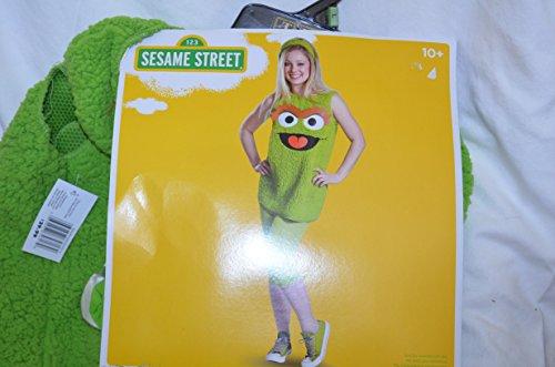[Sesame Street Oscar Costume, Size Large, Ages 10-12] (Oscar Sesame Street Costume)