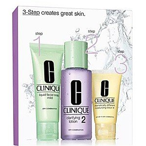 Clinque 3-Phasen-Systempflege Hauttyp 2 (Liquid Facial Soap, Clarifying Lotion Plus Dramatically Different Moisturizing Lotion), 1 Stück thumbnail