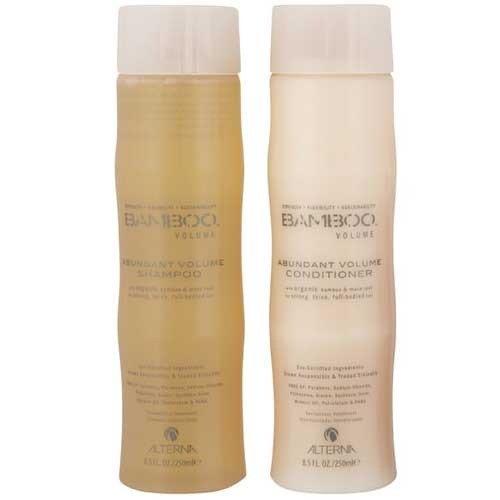 Alterna Bamboo Abundant Volume Shampoo and Conditioner Set (8.5 Oz Each) by Alterna