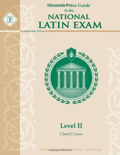 Memoria Press Guide to the National Latin Exam, Level II by Lowe Cheryl (2012-12-29) Paperback (Memoria Press Level A compare prices)