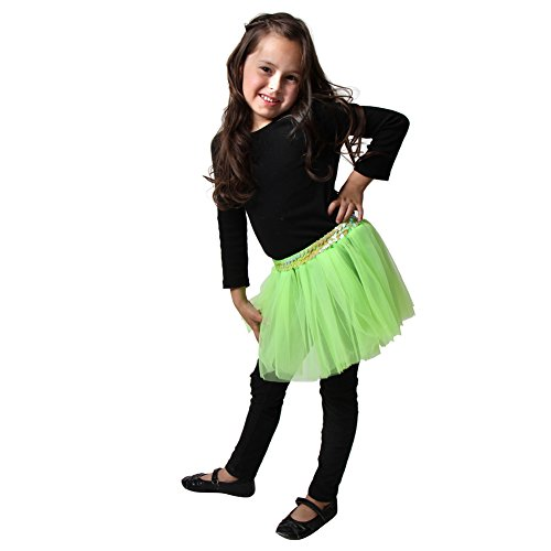 Girls Lime Sequin Tutu - 1