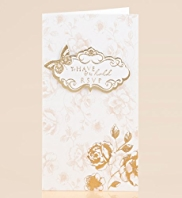 Print Your Own Cream & Gold Wedding RSVP Cards
