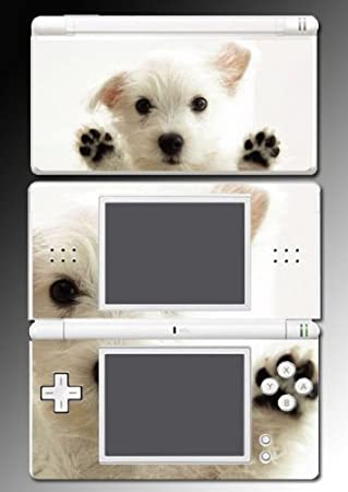 White Terrier dog puppy west Decal Cover Vinyl Skin Protector #10 for Nintendo DS Lite