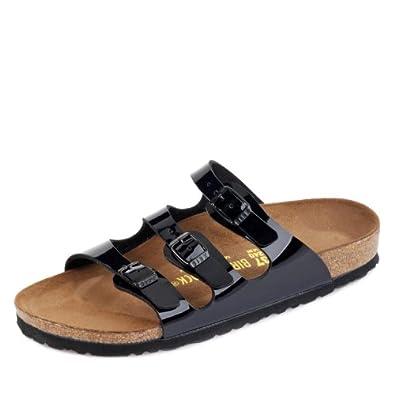 Womens Schwarz Lack Birko-Flor Mules 35 EU (4-4.5 N US Women): Shoes