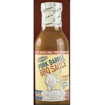 Pork Barrel Mustard Sauce 12 Oz. (Pack Of 6)