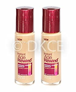 2 x Maybelline Instant Age Rewind Radiant Firming Liquid Makeup Foundation - Nude (190)