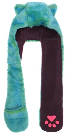 Amazon.com: Capelli New York Two Tone Tipped Faux Fur Critter Hood