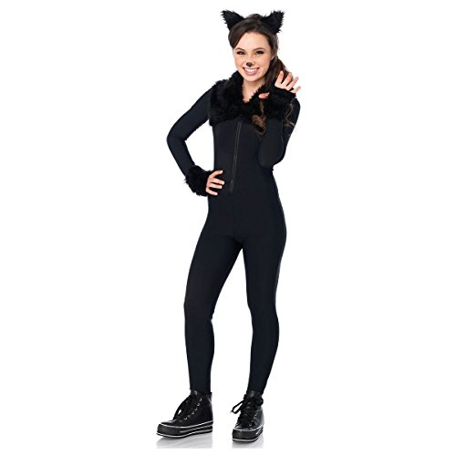 [GSG Black Cat Costume Teen Kids Halloween Fancy Dress] (Nurse Costumes For Teens)