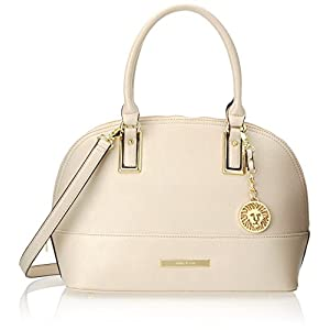 Anne Klein Shimmer Down Satchel Handbag, Vanilla Bean, One Size