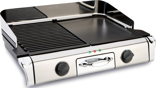 All-Clad TG806C51 Stainless Steel Removable Plate Electric Grill/Griddle, Silver