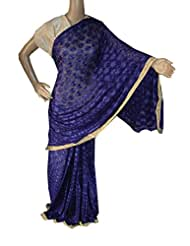 Beautiful RUDA Designer Phulkari Embroidered Saree-JS1115