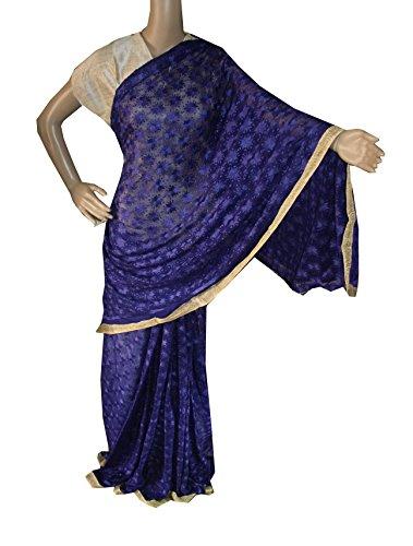 Beautiful RUDA Designer Phulkari Embroidered Saree-JS1115