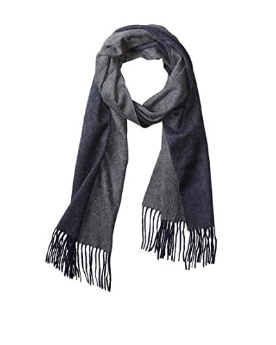 Thirty Five Kent Men's Cashmere Solid Double Face Scarf, Navy/Smog