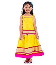 Home Shop Gift Cotton Party Wear langha choli set for girls