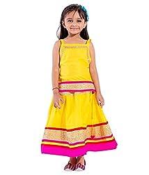 Home Shop Gift Yellow Cotton Lehenga Choli Set For 4 -5 year Kids ( Baby Girl ) Size Lehenga Length-20 inches - Waist-26 inches Size Choli - Length- 17 inches- Cheast-30 inches