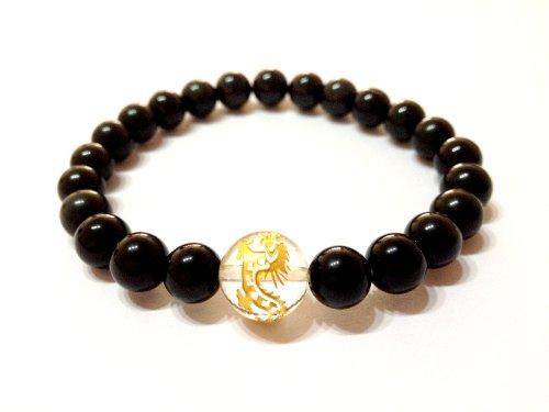 Power Stone bracelets mens Obsidian (Obsidian) 8 mm x 12 mm Crystal (Dragon) purification effects talisman natural stones bracelet Rosary powerstone G-22