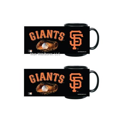 MLB Giants Ceramic Mugs (2) | San Francisco Giants 11oz. Coffee Cups - Set of 2 (Sf Giants Coffee Mug Set compare prices)