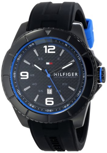Tommy Hilfiger Men's 1791017 Analog Display Quartz Black Watch - 41bPxhAlC9L - Tommy Hilfiger Men's 1791017 Analog Display Quartz Black Watch