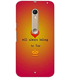 PrintDhaba Quote D-2865 Back Case Cover for MOTOROLA MOTO X PURE EDITION (Multi-Coloured)