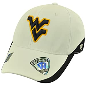 Buy NCAA Top of the World West Virginia Mountaineers Matchplay Flex Fit Hat Cap by Top of the World