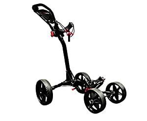 Ezeglide Compact Quad Golf Trolley - Black