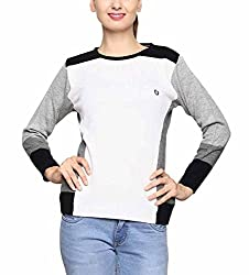 Leebonee Women's Acrylic Full Sleeve White Sweater