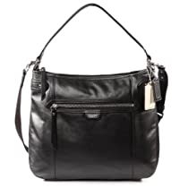 Coach Daisy Leather Convertible Duffle Hobo Bag 23937 Black