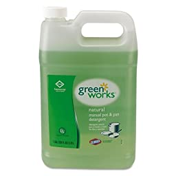 Green Works 30388 Natural Manual Pot and Pan Liquid Detergent, Original, 128 fl oz Can