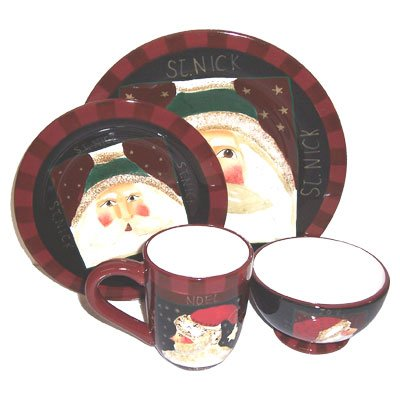 Santa Claus Dinnerware Sets | Christmas Wikii