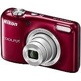 Nikon Coolpix L29 Digitalkamera (16 Megapixel, 5-fach opt. Weitwinkel-Zoom, 6,9 cm (2,7 Zoll) LCD-Display, HD) Kit inkl. 4GB Speicherkarte und Kameratasche rot