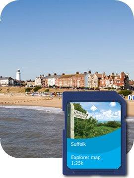 Satmap MapCard: Suffolk OS 1:10k  &  1:25k