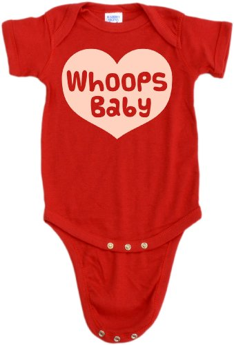 Whoops Baby Infant One Piece - Funny, Cute Unplanned Baby Apparel 12 Months