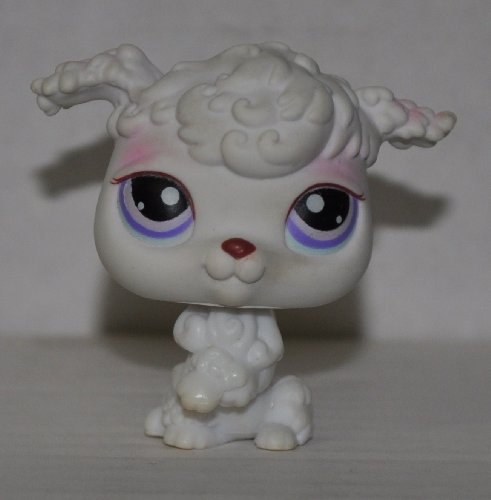 Poodle #101 (White) - Littlest Pet Shop (Retired) Collector Toy - LPS Collectible Replacement Figure - Loose (OOP Out of Package & Print) - 1