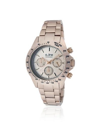 a_line Women's 20050-RR Amore Chronograph Rose Aluminum Watch