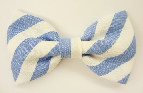 In the Navy - Dog or Cat Slide on Handcrafted Bow Tie Collar Accessory (Collar Not Included)