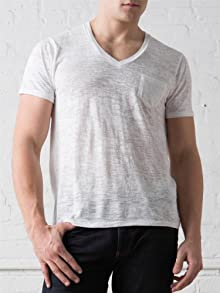 Men's Burnout Deep V-Neck