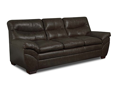Simmons upholstery 9515 03 soho espresso bonded leather for Simmons sectional sofa covers