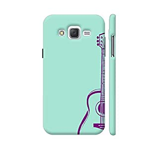 Colorpur Purple Guitar On Soft Green Artwork On Samsung Galaxy J2 (Old) Cover (Designer Mobile Back Case) | Artist: Miraculous