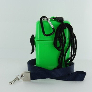 VAS Waterproof Dry Box; MED - GREEN Cruise N Travel Deluxe Navy Blue Lanyard, #5 Carabiner for; Cash, Credit & ID Cards, First Aid & Other Possibilities. (Cash Container compare prices)
