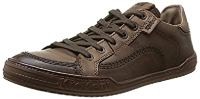 Kickers Jiuji, Baskets mode homme - Marron (9 Marron), 40 EU