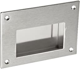 Monroe  Stainless Steel 304 Recessed Pull Handle  Non-Threaded Through Holes Dull Finish 3-12quot Mo