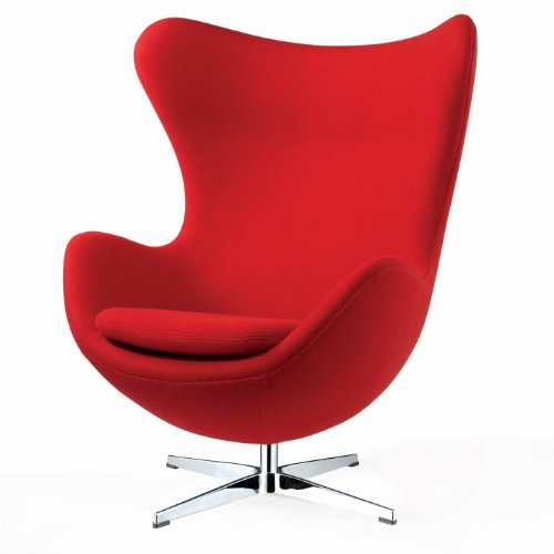 Black Friday Arne Jacobsen Style Egg Chair Red Cheap