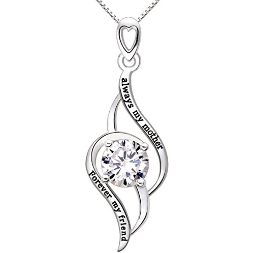 alov-jewelry-sterling-silver-always-my-mother-forever-my-friend-love-cubic-zirconia-pendant-necklace