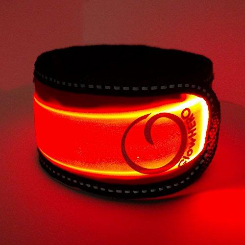 LED Slap Bracelet - Glow BAND by GlowHERO - Sweat Proof - Ultra Bright - High Visibility Safety Wristband -